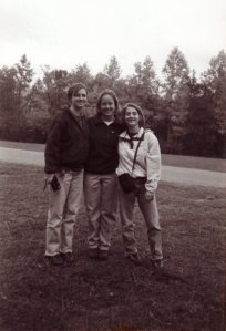 At Chimney Rock with Christy Moritz and Ann Carter Duncan